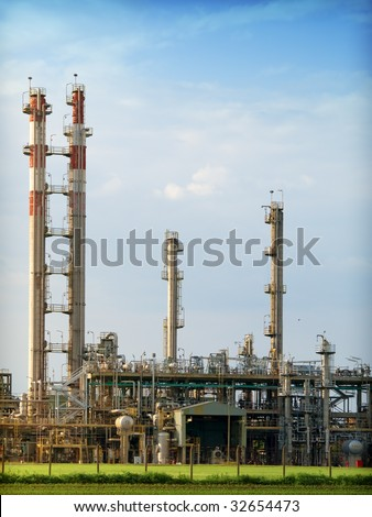 Part of refinery