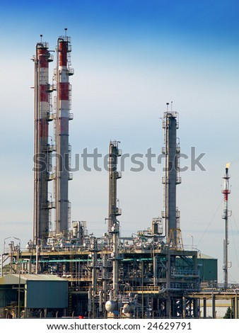 Part of refinery complex