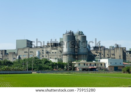Part of refinery complex - stock photo