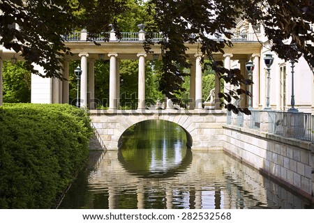 Part of Royal Palace in Lazienki Park, Warsaw - stock photo