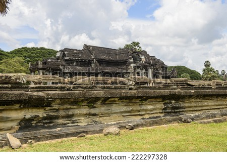Part of the Angkor Wat, Cambodia, the largest religious monument in the world, UNESCO World Heritage