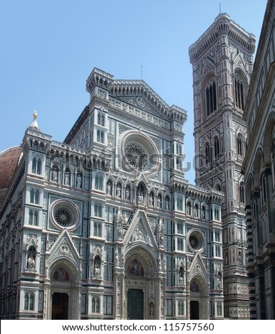 part of the Florence Cathedral in Florence (Italy)