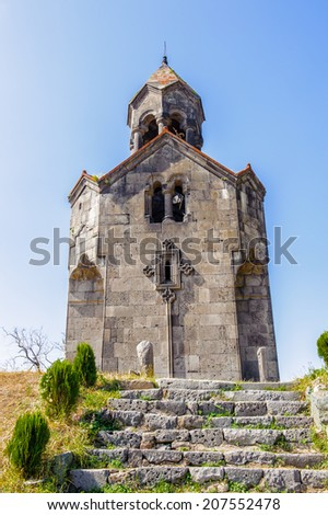 Part of the Haghpatavank (Haghpat Monastery), a medieval Armenian monastery complex in Haghpat, Armenia. It's a UNESCO World Heritage site - stock photo