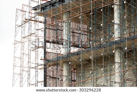 Part of the house under construction - stock photo