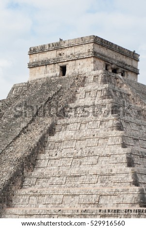 part of the Maya pyramid Chichen Itza Mexico
