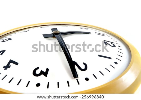 Part of the mechanical clock isolated on a white background  - stock photo