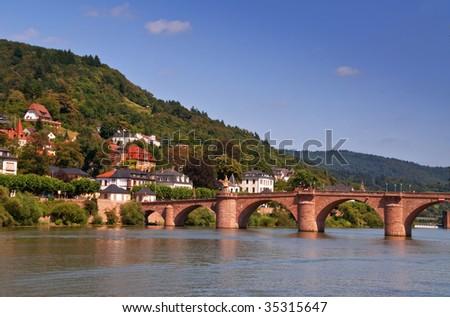 part of the old bridge - stock photo