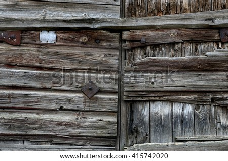 Part of the old wooden gate