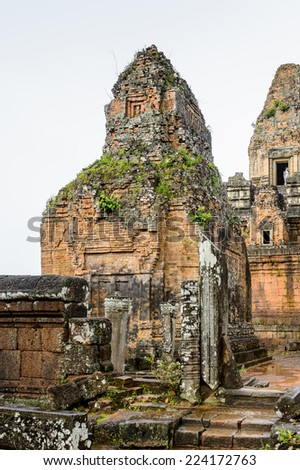 Part of the Pre Rup, a temple at Angkor, Cambodia