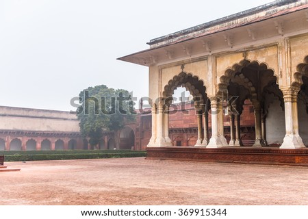Part of the Red Fort of Agra, India. UNESCO World Heritage site.
