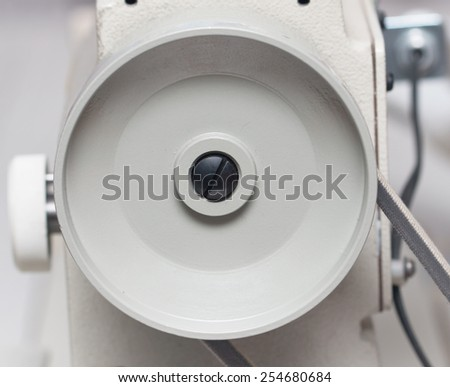 part of the sewing machine - stock photo