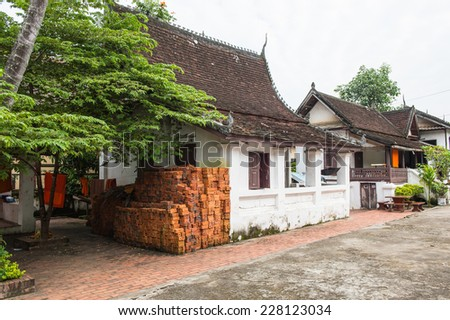 Part of the Vat sen complex , one of the Buddha complexes in Luang Prabang which is the UNESCO World Heritage city