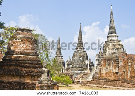 part of the Wat Si Sanphet in Ayutthaya
