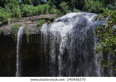 Part of the waterfall - stock photo