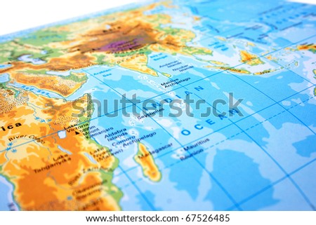 Part world map europe asia africa stock photo 67526485 shutterstock part of the world map with europe asia and africa gumiabroncs Choice Image