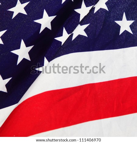 Part of USA Flag close-up - stock photo