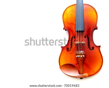 part of violin isolated with space