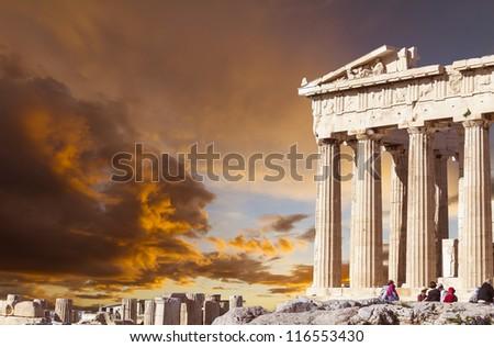 Parthenon in Athens,Greece - stock photo