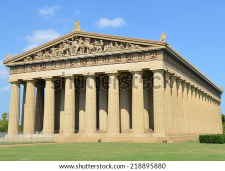 Parthenon, located in Nashville, Tennessee - stock photo