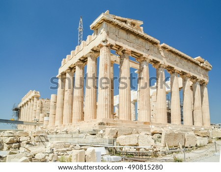 Parthenon monument in Athens Greece