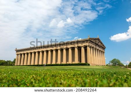 Parthenon Replica at Centennial Park in Nashville, Tennessee, USA. - stock photo