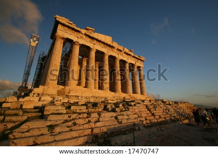 Parthenon Sunset