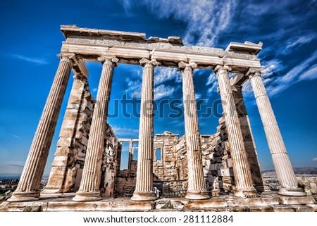 Parthenon temple on the Acropolis in Athens, Greece - stock photo