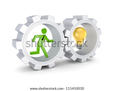 Parthnership concept.Isolated on white background.3d rendered.