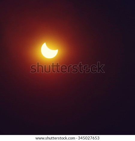 Partial Sun eclipse