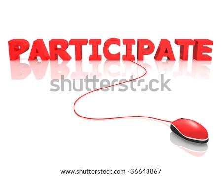 Participate - stock photo