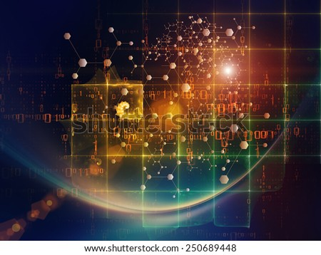 Particle Geometry series. Design composed of particles, math and design elements as a metaphor on the subject of science, technology and education - stock photo