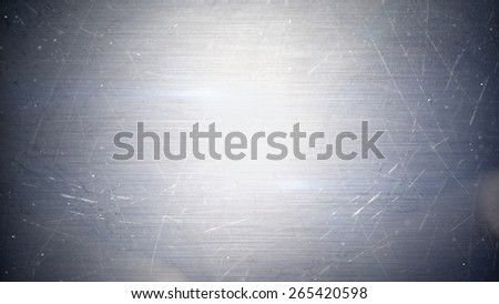 particles over metal abstract background - stock photo