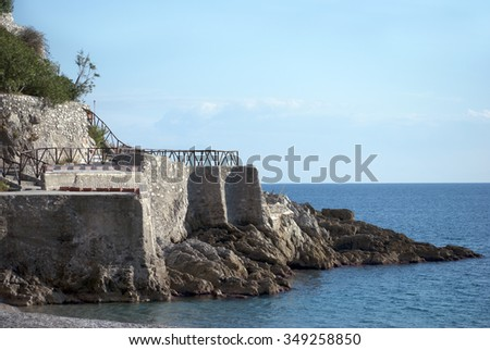 Particular access to the sea, Amalfi coast Italy