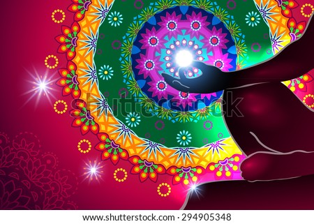 Particularly chakra meditation and light  - stock photo