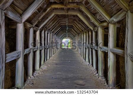 Partington Cove Tunnel, Big Sur, California - stock photo