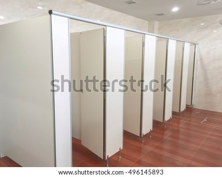 Bathroom stall stock images royalty free images vectors - Bathroom partition installers near me ...