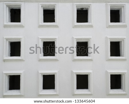 partition wall with holes