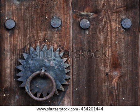 Partl of old wooden door backgound