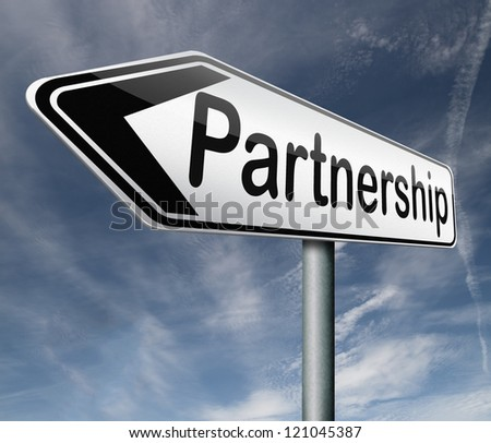 partnership partners in crime or business partner cooperate pact
