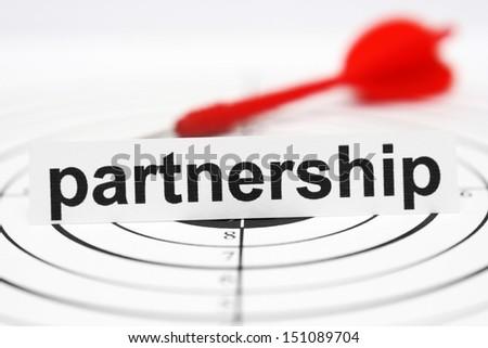 Partnership target - stock photo