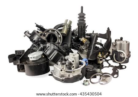 Parts Cars On White Background Auto Stock Photo 435430498