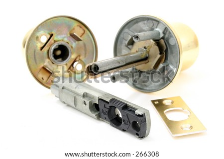 Parts Door Knob On White Background Stock Photo (Royalty Free ...