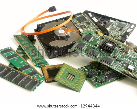 parts of computer PCI - stock photo