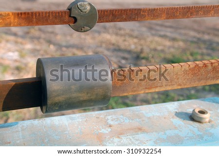 Parts weighing various goods - stock photo