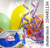 Party accessories abstract background - stock photo