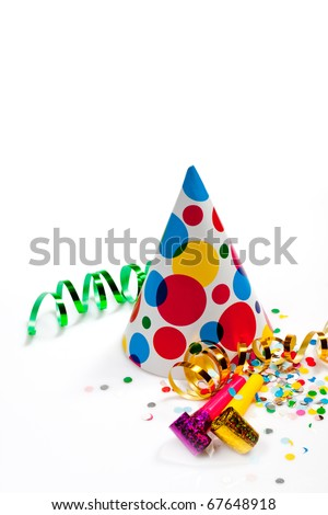 party accessories isolated on white