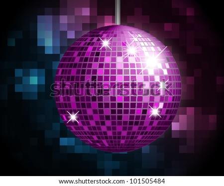 Party Atmosphere with disco globe - stock photo