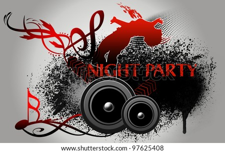 party background with dance silhouette