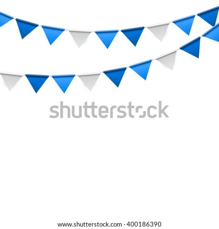 Party Background with Flags Illustration.  - stock photo