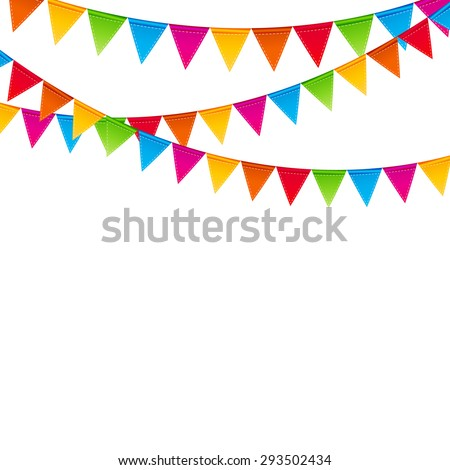 Party Background with Flags  Illustration. EPS 10 - stock photo